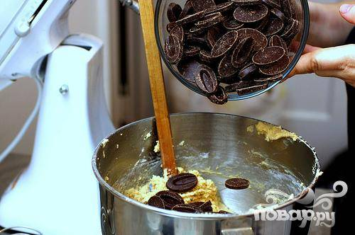 Печенье с шоколадными чипсами и ванилью - пошаговый рецепт
