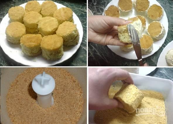Бисквитное пирожное с масляным кремом - пошаговый рецепт