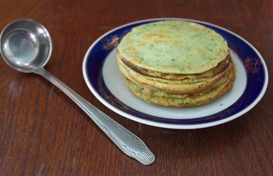 Блинчики шпинатные - пошаговый рецепт