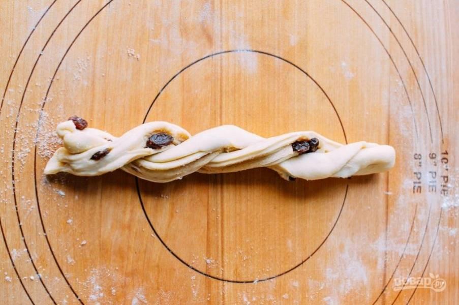 Булочки - Розы - с изюмом - пошаговый рецепт с фото на