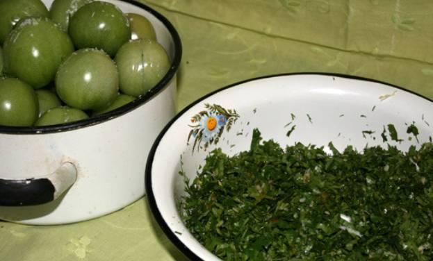 Засолка зеленых помидоров - пошаговый рецепт