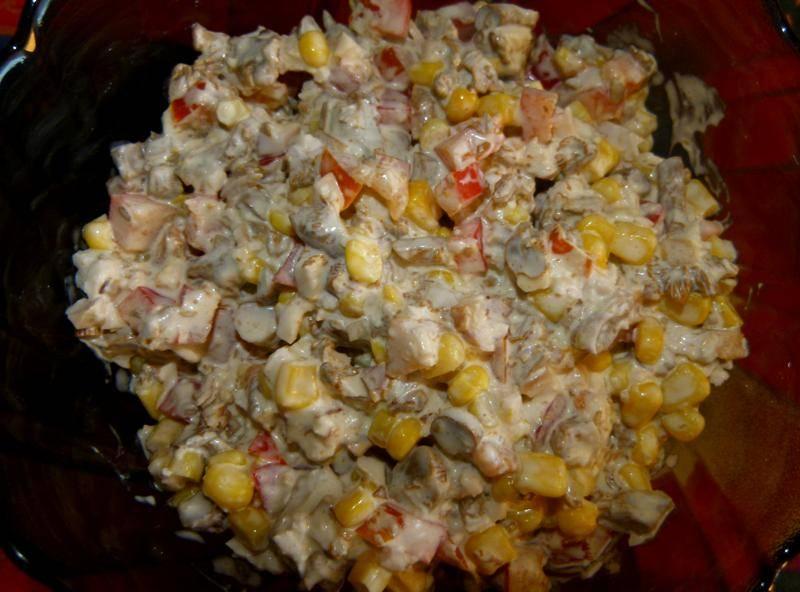 Салат из маринованных лисичек рецепт