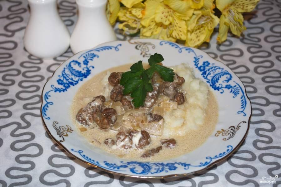 Грибной соус из сушеных белых грибов рецепт