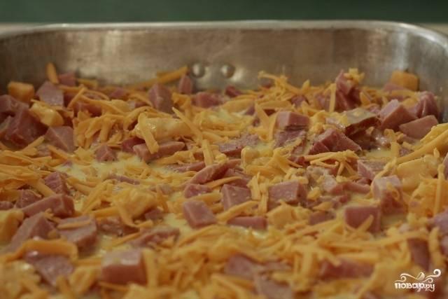 Картофель с ветчиной и сыром в духовке - пошаговый рецепт с фото на