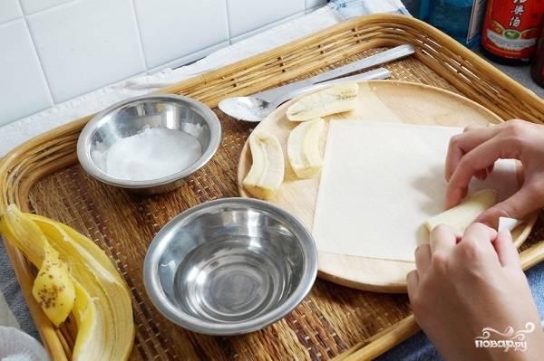 Спринг роллы с бананом - пошаговый рецепт с фото на