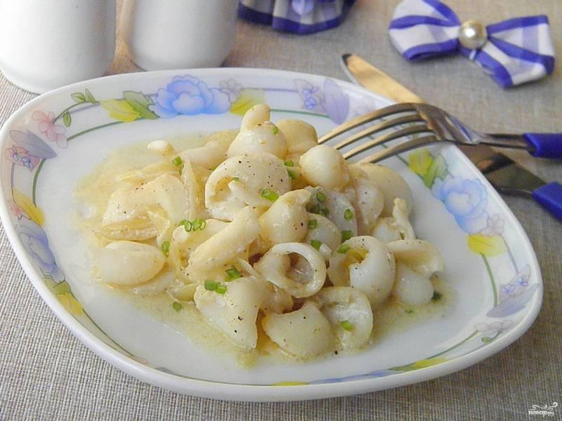 кальмары тушеные рецепт с фото пошагово