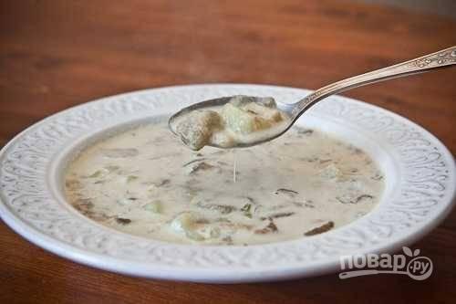 Сливочно-грибной суп