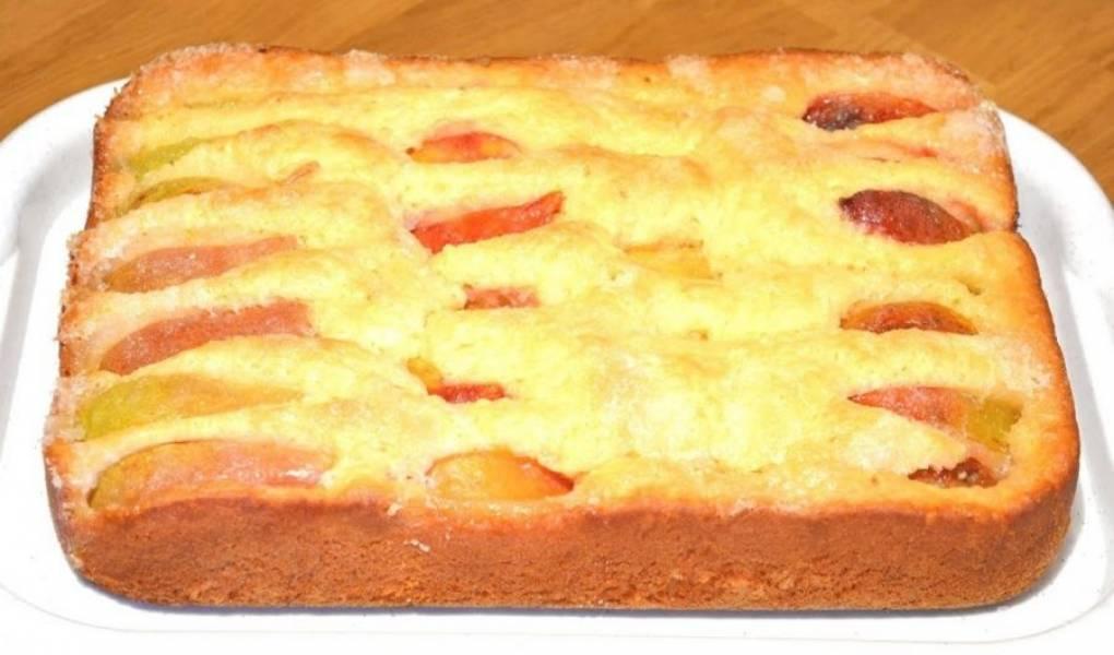 Безумно вкусный и простой пирог с фруктами - пошаговый рецепт