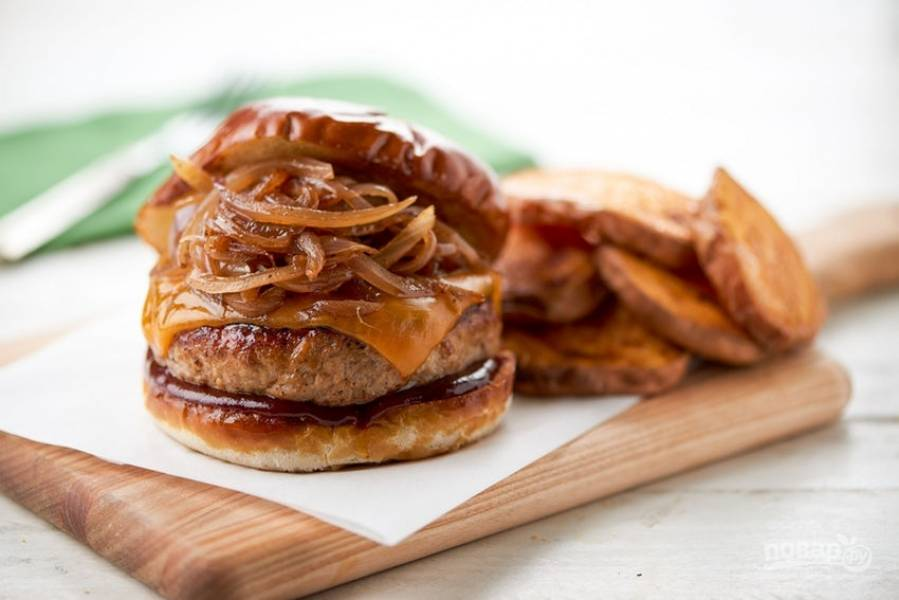 Барбекю бургер - пошаговый рецепт