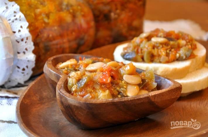 Фасоль по-монастырски с овощами на зиму - пошаговый рецепт