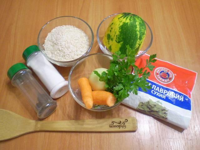 Подготовим продукты для супа.