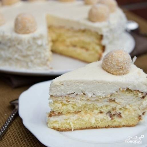 """12. Торт """"Рафаэлло"""" готов! Приятного аппетита!"""