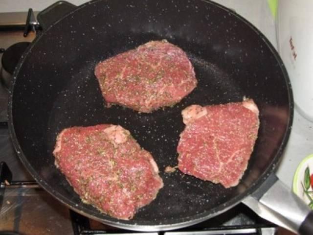 Мраморная говядина на сковороде рецепт