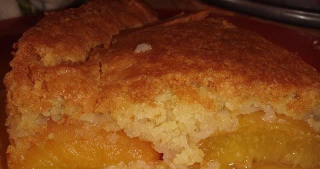 Персиковый пудинг - пошаговый рецепт