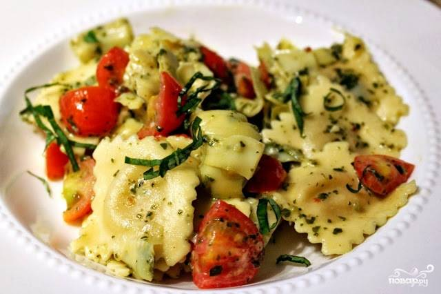 Равиоли в томатном соусе