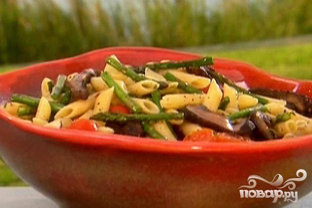 Грибной салат со спаржей