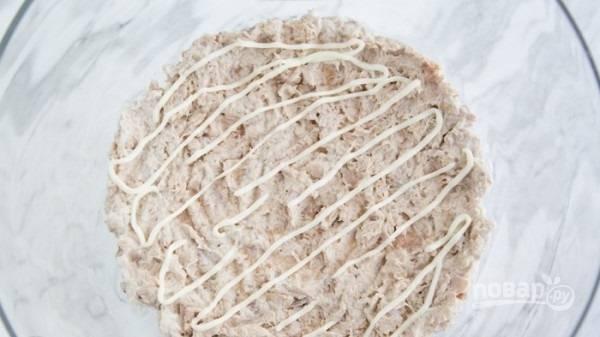 Мимоза - с тунцом - пошаговый рецепт