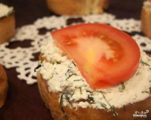 Бутерброды с творожно-яблочной массой