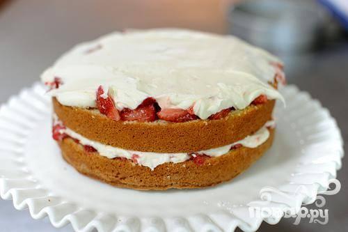 Клубничный торт - пошаговый рецепт с фото на
