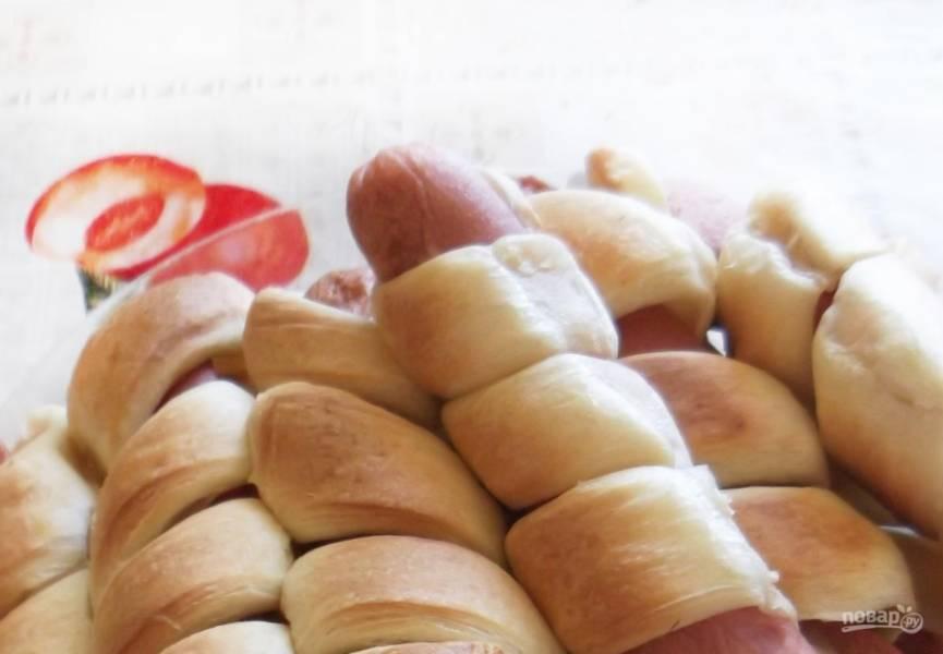 Слоеное бездрожжевое тесто для сосисок в тесте в духовке рецепт с пошагово