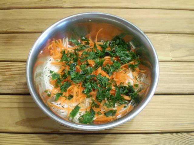 Салат витаминный из капусты и моркови с уксусом - пошаговый рецепт с фото на