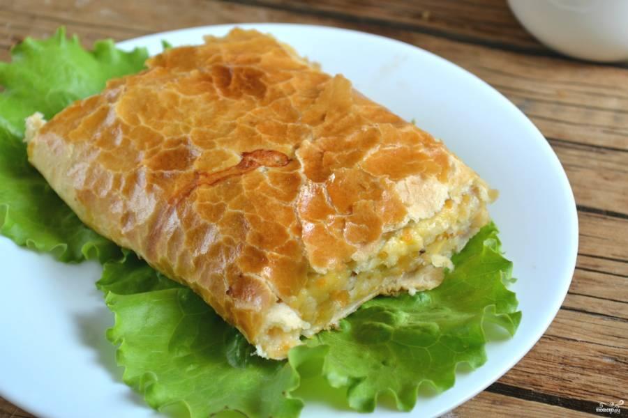 Рулет из рыбы с сыром