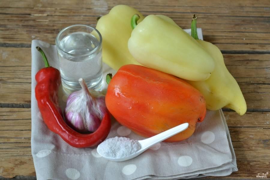 Аджика из перца на зиму - пошаговый рецепт