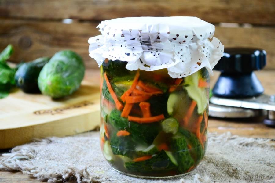 Засолка огурцов на зиму рецепты на литровую банку горячим способом