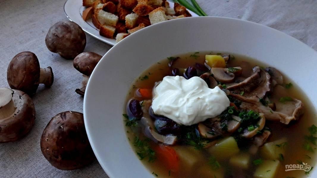 Грибная юшка (суп с грибами)