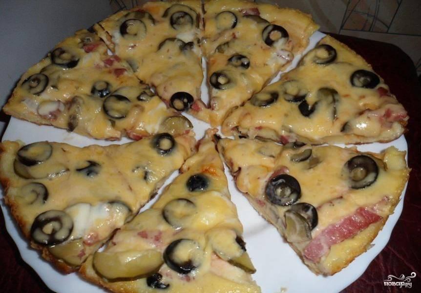 Пицца пошаговый рецепт с фото на сковороде