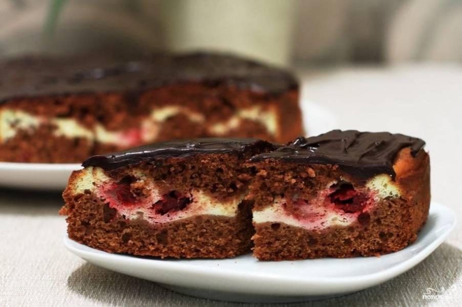"""Торт """"Брауни"""" с вишней"""