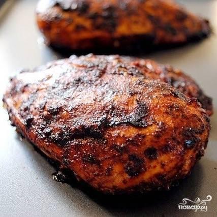 Салат с курицей-гриль - пошаговый рецепт с фото на