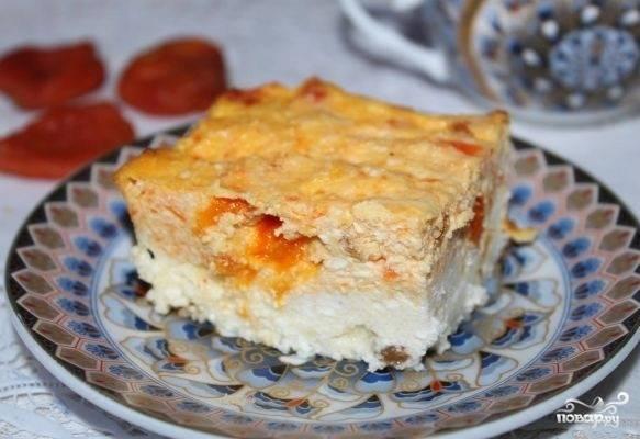 Пирог из моркови и творога