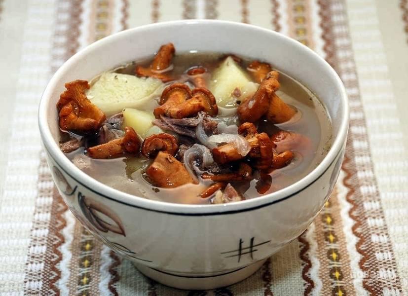 рецепты грибной суп из белых грибов замороженных рецепт