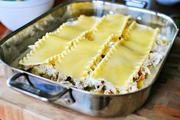 Лазанья с творогом и сыром - пошаговый рецепт
