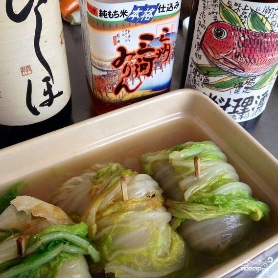Китайская капуста, фаршированная коричневым рисом - пошаговый рецепт с фото на