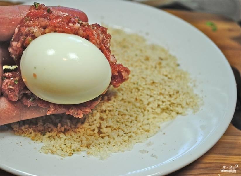 Яйца в фарше - пошаговый рецепт