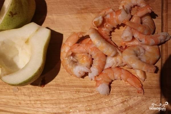 Груша, запеченная с креветками и сыром - пошаговый рецепт с фото на