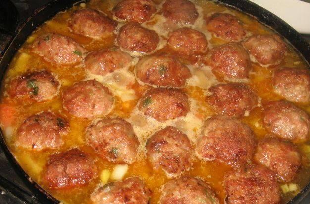 Рецепт фрикадельки в соусе пошагово