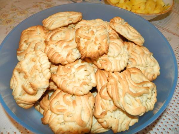 Рецепт домашнего песочного печенья через мясорубку