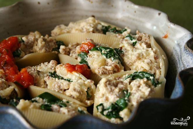 Итальянская паста с начинкой рецепт