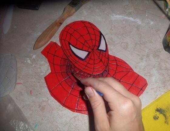 Торт бисквитный - Человек-паук - пошаговый рецепт с фото на