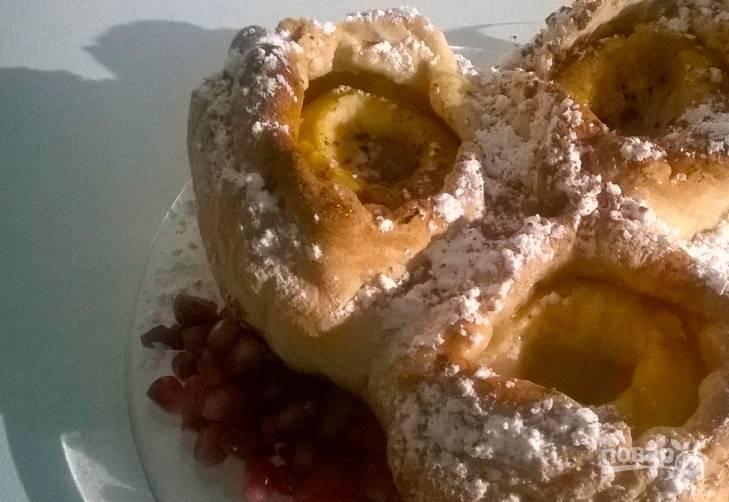 Дрожжевое тесто с яблоками - пошаговый рецепт
