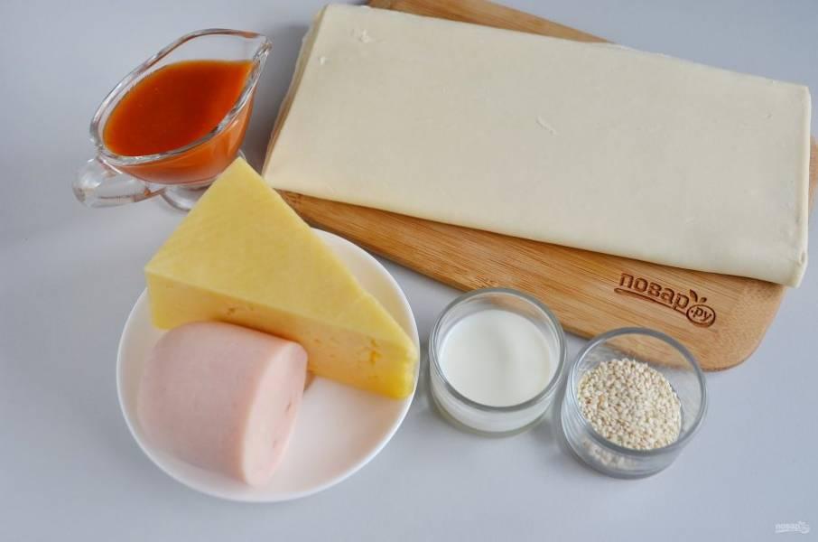 Слоеные - Ушки - на закуску - пошаговый рецепт с фото на