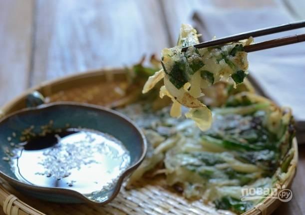Оладьи с картофелем и шпинатом