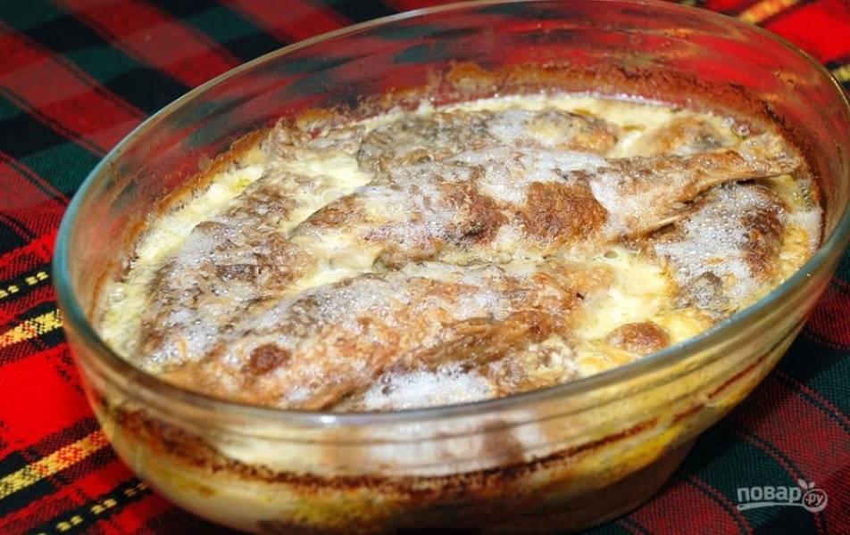 Карась в сметане на сковороде - пошаговый рецепт