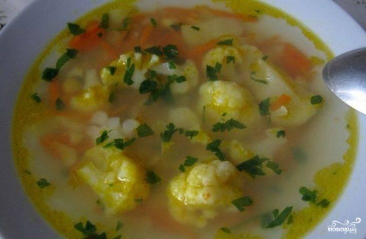 Овощной суп с цветной капустой