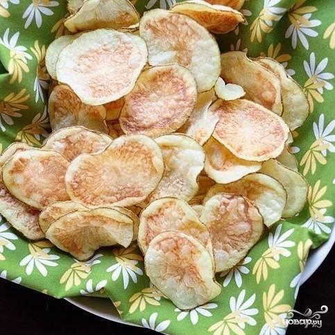 Картофельные чипсы готовы!