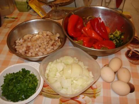 Перец, фаршированный рыбой - пошаговый рецепт