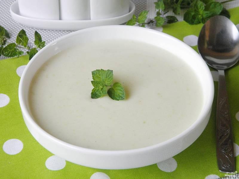 Суп из кабачков с сыром